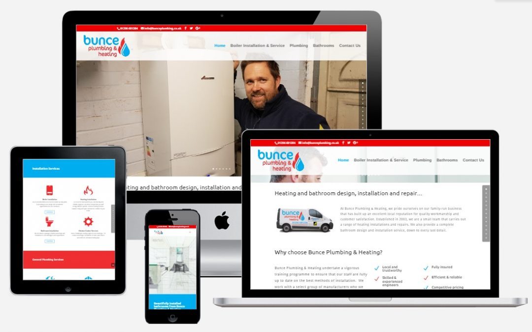 Bunce Plumbing and Heating are proud to launch their brand new website.